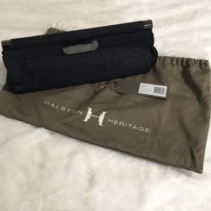 Halston Heritage Black Sparkle clutch